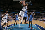 Oklahoma City Thunder v Dallas Mavericks - Game Two  Dallas  TX - MAY 19: Dirk Nowitzki  Serge Ibak