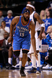 Oklahoma City Thunder v Dallas Mavericks - Game Two  Dallas  TX - MAY 19: James Harden