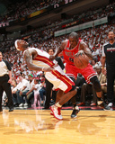 Chicago Bulls v Miami Heat - Game Three  Miami  FL - MAY 22: Luol Deng  LeBron James