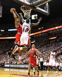 Chicago Bulls v Miami Heat - Game Four  Miami  FL - MAY 24: Derrick Rose and Joel Anthony