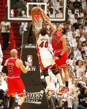 Chicago Bulls v Miami Heat - Game Four  Miami  FL - MAY 24: Joakim Noah and Udonis Haslem