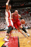 Chicago Bulls v Miami Heat - Game Three  Miami  FL - MAY 22: Carlos Boozer and Chris Bosh