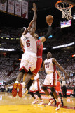 Chicago Bulls v Miami Heat - Game Three  Miami  FL - MAY 22: Carlos Boozer and LeBron James