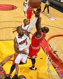 Chicago Bulls v Miami Heat - Game Four  Miami  FL - MAY 24: Dwyane Wade and Luol Deng