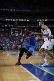 Oklahoma City Thunder v Dallas Mavericks - Game Two  Dallas  TX - MAY 19: Kendrick Perkins and Tyso