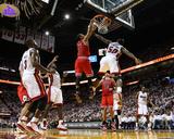 Chicago Bulls v Miami Heat - Game Four  Miami  FL - MAY 24: Derrick Rose  Joel Anthony and LeBron J