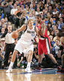 Portland Trail Blazers v Dallas Mavericks - Game One  Dallas  TX - APRIL 16: Dirk Nowitzki and LaMa