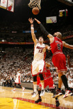 Chicago Bulls v Miami Heat - Game Four  Miami  FL - MAY 24: Mike Miller and Carlos Boozer