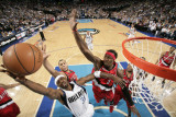 Portland Trail Blazers v Dallas Mavericks - Game One  Dallas  TX - APRIL 16: Jason Terry  Gerald Wa