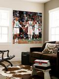 Miami Heat v Boston Celtics - Game Four  Boston  MA - MAY 9: Ray Allen  Paul Pierce and Kevin Garne