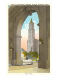 View of Woolworth Building through Municipal Arch  New York City