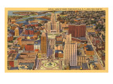 Aerial View of Downtown Buffalo  New York