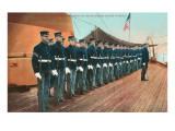 Marine Guard on Naval Warship