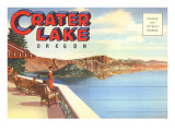 Postcard Folder  Greetings from Crater Lake  Oregon