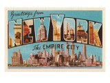 Greetings from New York  the Empire City