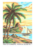 Paint by Numbers  Tropical Scene Number One