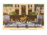 Prometheus Fountain  Rockefeller Center  New York City