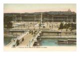 Place de la Concorde  Seine  Paris
