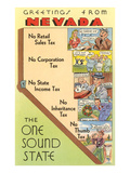 Map of Nevada  One Sound State  No Tax