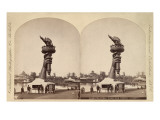 Stereoscopic Image of Liberty&#39;s Torch