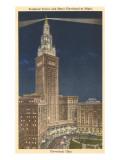 Night  Terminal Tower  Cleveland  Ohio