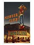 Neon  Pioneer Club  Las Vegas  Nevada