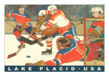Hockey Game in Lake Placid  New York