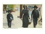 Amish Family  Lancaster County  Pennsylvania