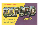 Greetings from Oxford  Ohio