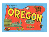 Greetings from Oregon  Map