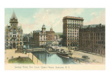 Erie Canal and Opera House  Syracuse  New York