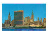 United Nations Building and Skyline  New York City