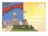 Postcard Folder  Greetings from Madison  Wisconsin