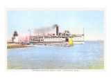 Steamer Rounding Brant Point  Nantucket  Massachusetts