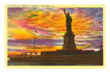 Statue of Liberty at Sunrise  New York City