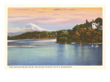 Lake Washington Boulevard and Mt Rainier  Washington