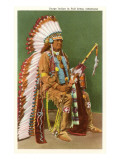Osage Indian in Full Dress  Oklahoma