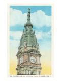 William Penn Statue  City Hall  Philadelphia  Pennsylvania