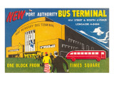 Ad for Port Authority Bus Terminal  New York City