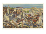 Aerial View of Cleveland  Ohio