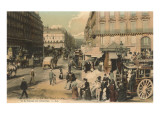 St Lazare Street and Bus Station  Paris