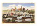 Oil Refinery  Skyline  Tulsa  Oklahoma