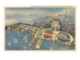 Aerial View  Great Lakes Exposition  Cleveland  Ohio