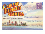 Postcard Folder  Oakland  Berkeley  Alameda  California