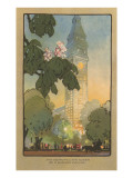 Art Deco Rendering of Metropolitan Tower  New York City