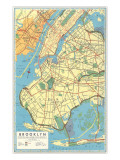 Map of Brooklyn  New York