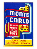 Advertisement for Monte Carlo Club  Las Vegas  Nevada