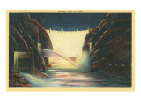 Boulder Dam at Night  Nevada