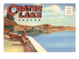 Postcard Folder  Crater Lake  Oregon