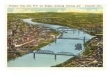 Bridges over Ohio River  Cincinnati  Ohio